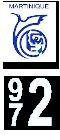 Plaque immatriculation Région %s Martinique